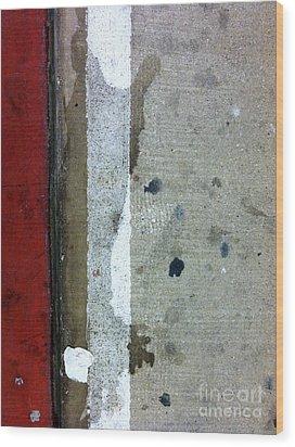Streets Of New York Abstract Twelve Wood Print by Marlene Burns