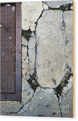 Streets Of New York Abstract Two Wood Print by Marlene Burns
