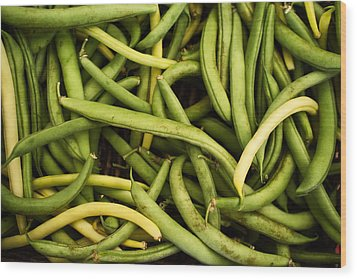 String Beans Wood Print by Tanya Harrison