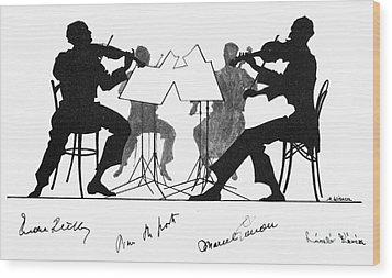 String Quartet, C1935 Wood Print by Granger