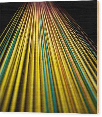 String Theory Wood Print by Hakon Soreide