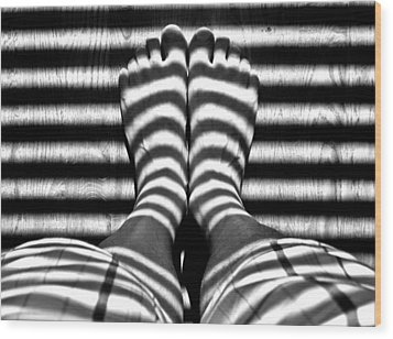 Stripe Socks? Wood Print by David Pantuso