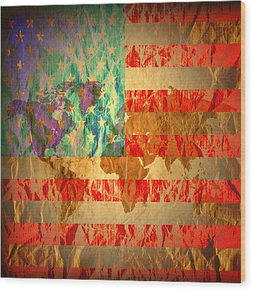 Stripes And Stars  Wood Print by Jerry Cordeiro