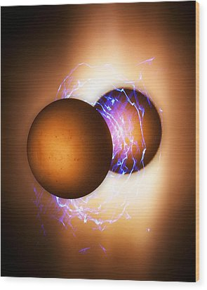 Strong Nuclear Force Wood Print by Richard Kail