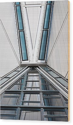 Structure Reflections Wood Print by Colleen Coccia