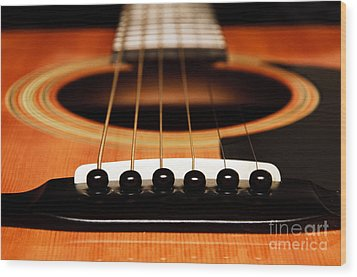 Strum Front Wood Print by Andee Design