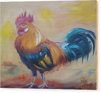 Struttin' My Stuff Wood Print by Donna Tuten