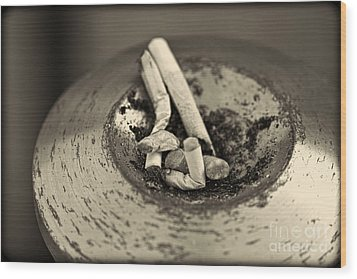 Wood Print featuring the photograph Stubbed Out. by Clare Bambers