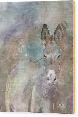 Stubborn Jesse - I'm Not Moving Wood Print by Arline Wagner