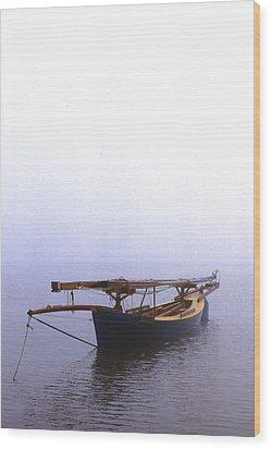 Stuck In Port Wood Print by Skip Willits
