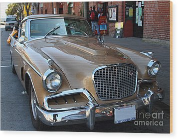 Studebaker Golden Hawk . 7d14179 Wood Print by Wingsdomain Art and Photography