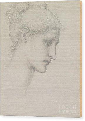 Study For Laus Veneria Wood Print by Sir Edward Burne Jones