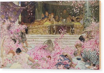 Study For The Roses Of Heliogabulus Wood Print by Sir Lawrence Alma-Tadema