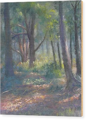 Study For Woodland Interior Wood Print
