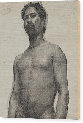 Study Of A Negro Man Wood Print by Henry Ossawa Tanner