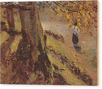 Study Of Tree Trunks Wood Print by John Constable