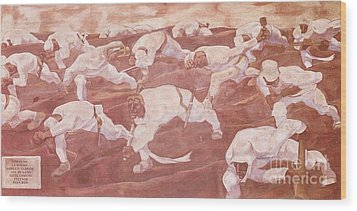 Sturm Dem Namelosen Wood Print by Pg Reproductions