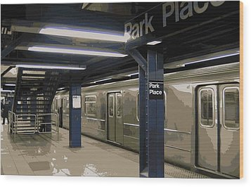 Subway Color 16 Wood Print by Scott Kelley