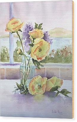 Sue's Poppies Wood Print by Bobbi Price