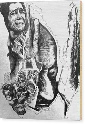 Suffering-holocaust Wood Print by Tj Voelker