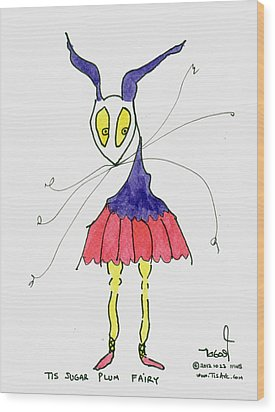 Sugar Plum Fairy Wood Print by Tis Art