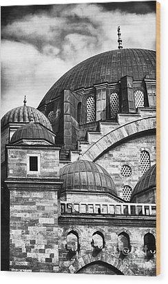 Suleymaniye Domes Wood Print by John Rizzuto