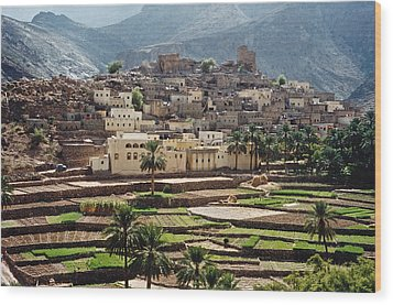 Sultanat D'oman Wood Print by Micheline Canal