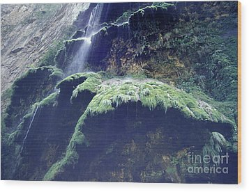 Sumidero Canyon Waterfall Chiapas Mexico Wood Print