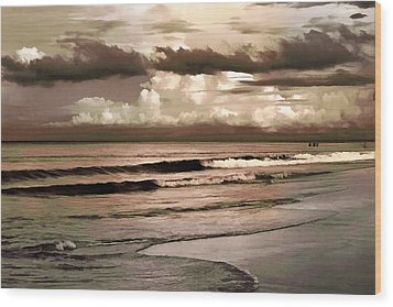 Wood Print featuring the photograph Summer Afternoon At The Beach by Steven Sparks