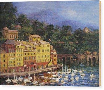 Summer Afternoon In Portofino Wood Print by R W Goetting