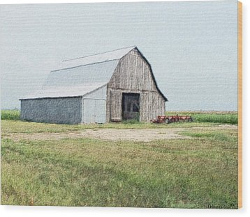 Wood Print featuring the digital art Summer Barn by Debbie Portwood
