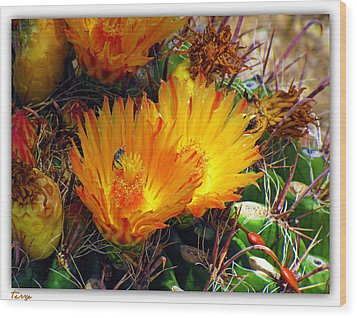 Summer Blooms Wood Print
