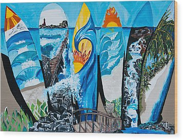 Summer Dayz Wood Print by Michael Henzel