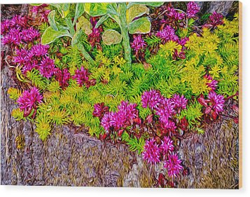 Summer Delight Wood Print by Ken Stanback