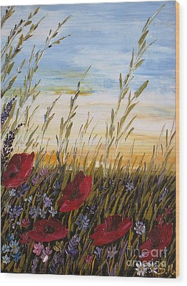 Summer Dream Wood Print by AmaS Art