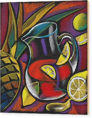 Summer Drink Wood Print by Leon Zernitsky