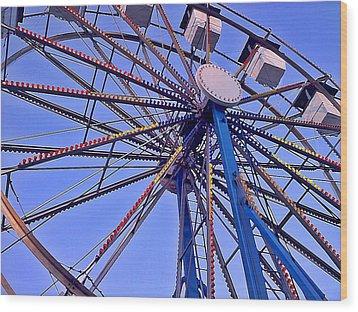 Summer Festival Ferris Wheel Wood Print