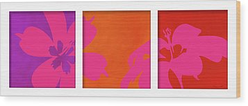 Summer Flowers Wood Print by Nomi Elboim