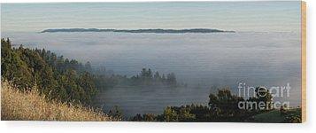 Summer Fog Rolls In Wood Print by Matt Tilghman