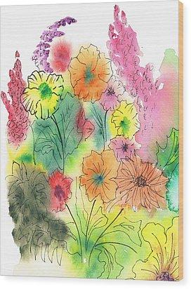 Summer Garden Wood Print by Christine Crawford