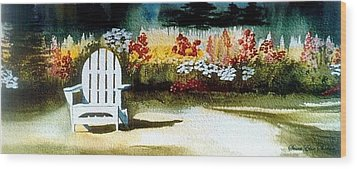 Summer Garden  Wood Print by Susan Elise Shiebler