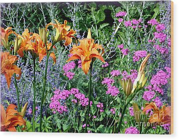 Wood Print featuring the photograph Summer Garden by Tanya  Searcy