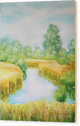 Summer Marsh Wood Print by Inese Poga
