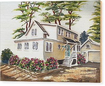 Summer Place Wood Print by Andrea Timm
