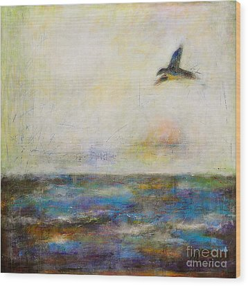 Summer Series The Fog Is Setting In Wood Print by Johane Amirault
