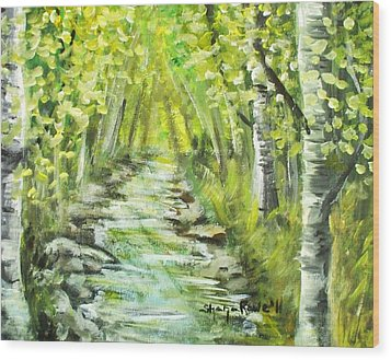 Wood Print featuring the painting Summer by Shana Rowe Jackson
