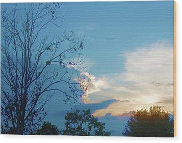 Summer Sky Wood Print by Juliana  Blessington