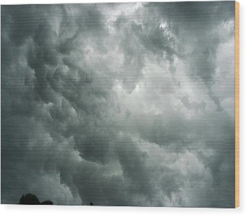Summer Storm Clouds Wood Print by Marian Hebert