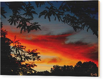 Summer Sunset Wood Print