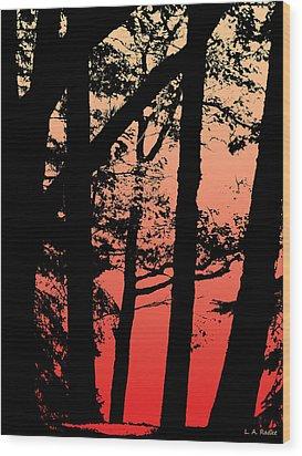 Summer Sunset Wood Print by Lauren Radke